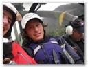 Myself, Canadian Mike and Dando, the chopper pilot.